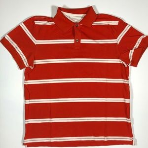 Banana Republic Polo Shirt Mens Red with White